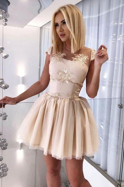 Cute Mini Cap Sleeves Homecoming Dresses For Teens Party Dresses Z2185