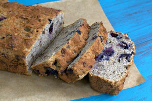 Sam's favourite recipe- Blueberry Banana Breaky Loaf
