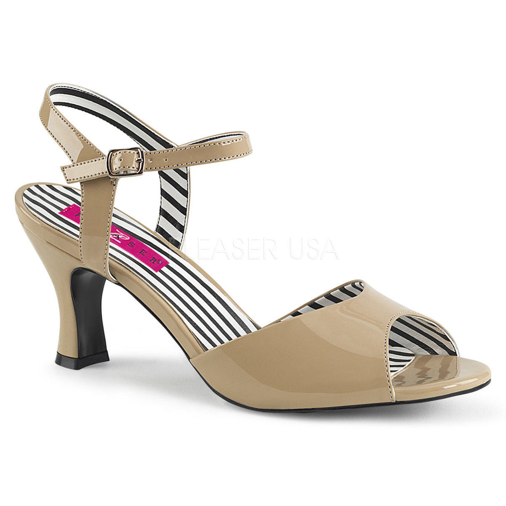 "Discontinued PLEASER PINK LABEL Jenna-09 Dress Sandals 3"" Heels Drag Womens 8-15"
