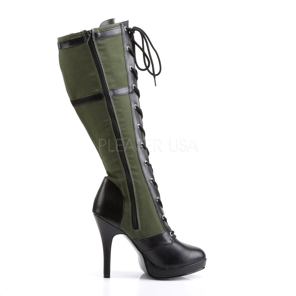 FUNTASMA Arena-2022 Army Green Khaki Star Military Cosplay Costume Knee Boots