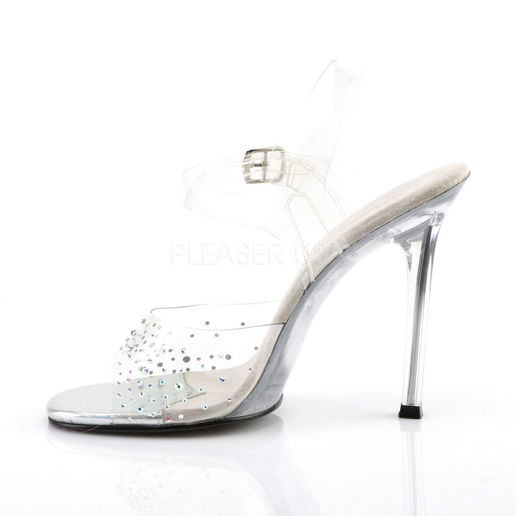 "FABULICIOUS Gala-08SD Clear Rhinestones Dress Formal Party Wedding 4.5"" Heel - A Shoe Addiction"