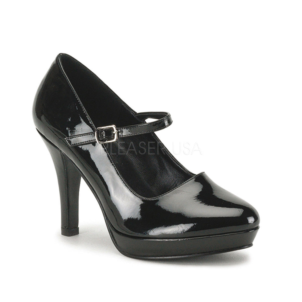 "FUNTASMA Contessa-50X Black WIDE WIDTH Work Costume Mary Janes Pumps 4"" Heels - A Shoe Addiction"
