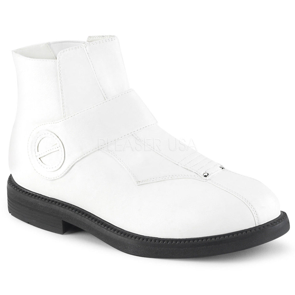 FUNTASMA Clone-102 White Men's Pimp Storm Trooper Costume or Fashion Ankle Boots