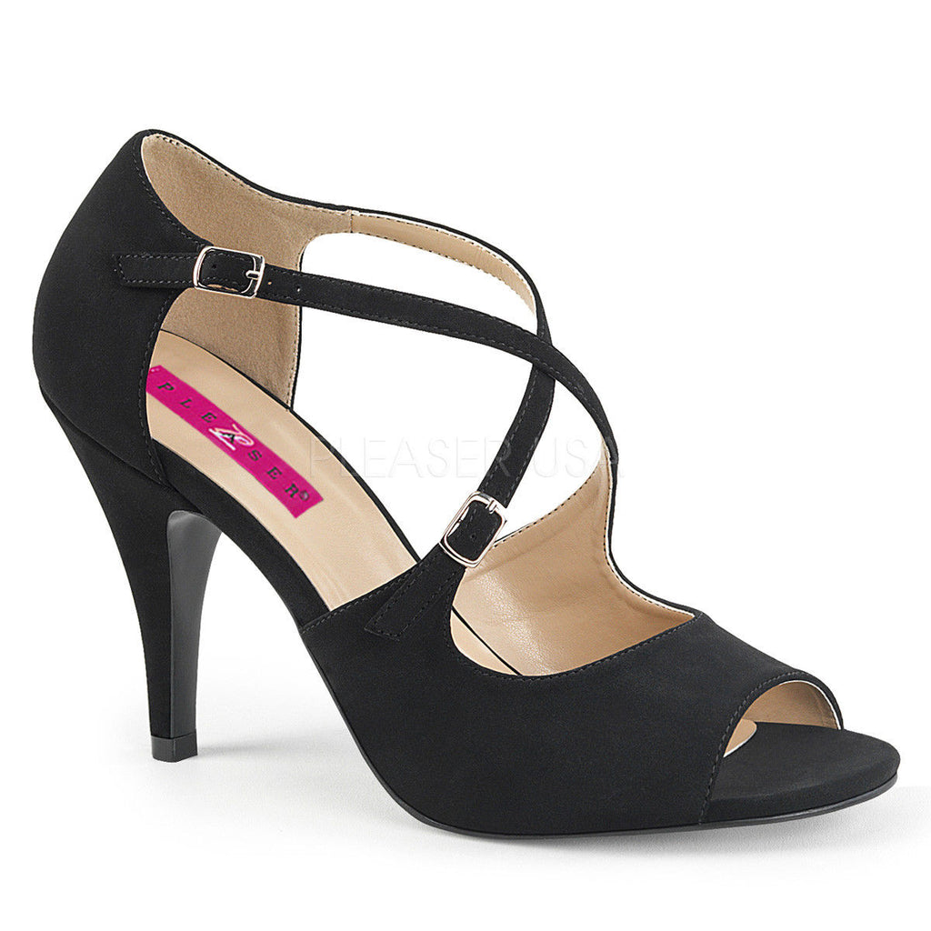 "PLEASER PINK LABEL Dream-412 Nubuck Party Dress Formal 4"" Heels Drag Womens 8-16 - A Shoe Addiction"