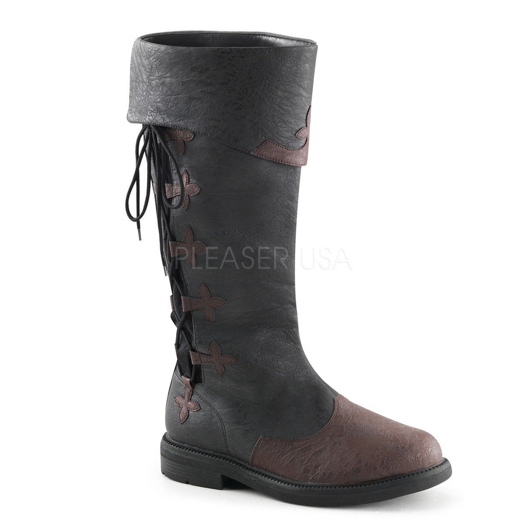FUNTASMA Captain-110 Pirate Captain Buccaneer Medieval Larp Mens Costume Boots