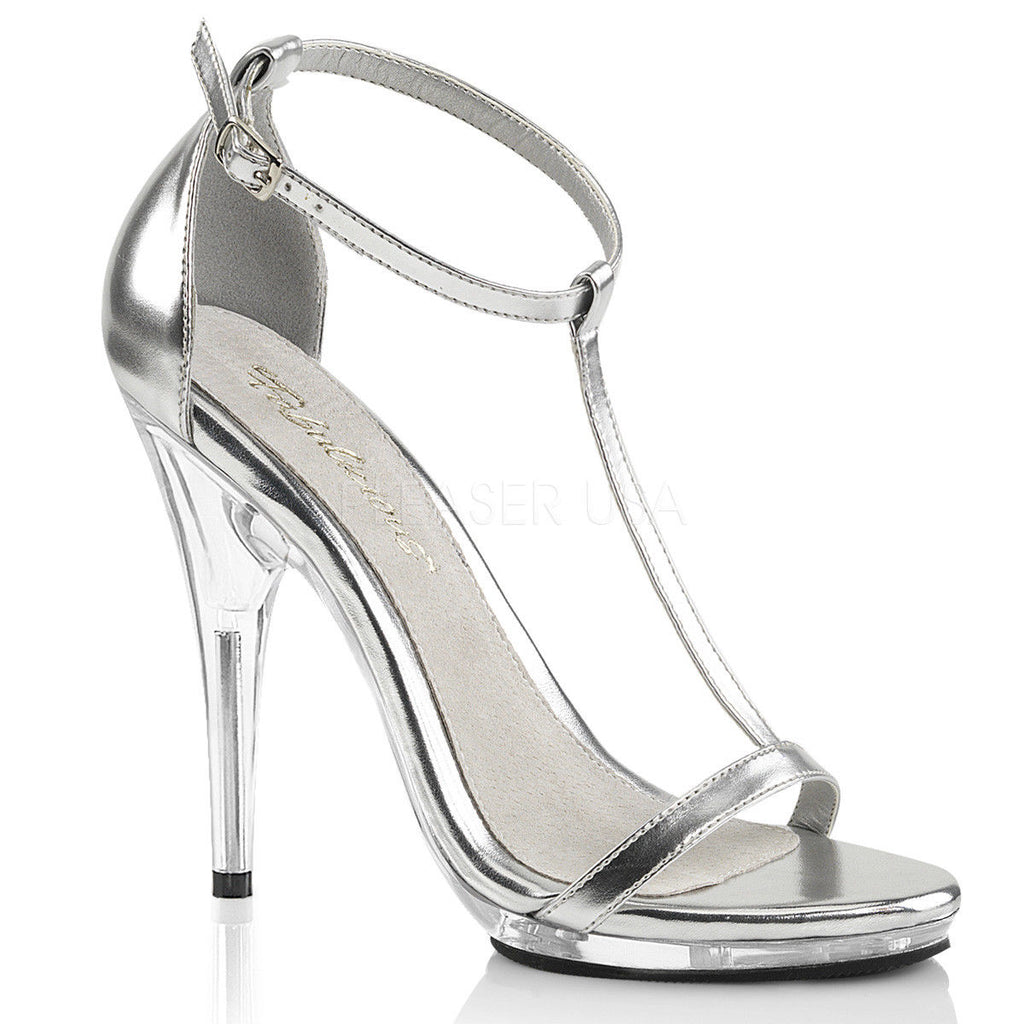 "Discontinued FABULICIOUS Poise-526 Black Brown Silver Dress Sandals 5"" Heels - A Shoe Addiction"