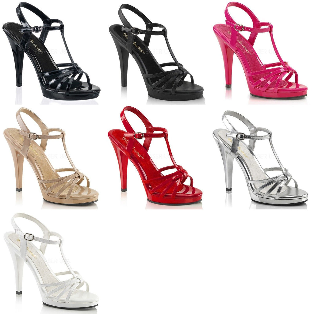 FABULICIOUS Flair-420 Drag Strappy Dress Party Formal Stiletto Heels Size 4-15 - A Shoe Addiction