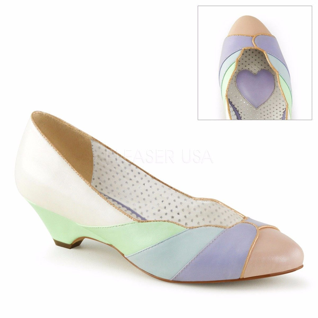 "Discontinued PINUP COUTURE Lulu-05 Scalloped Seashell Pumps Kitten 1.5"" Heels - A Shoe Addiction"