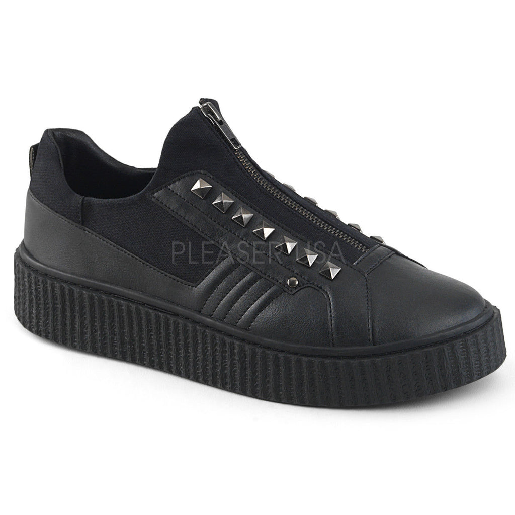 DEMONIA Sneeker-125 Men's Unisex Goth Rocker Stud Creeper Platform Sneaker Shoes - A Shoe Addiction