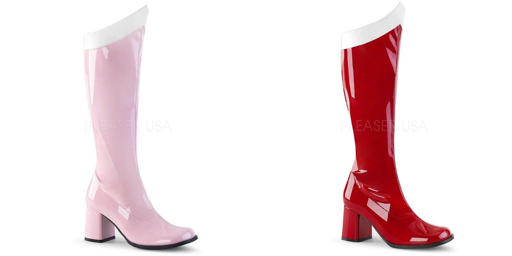 "FUNTASMA Gogo-306 Red Pink Wonder Woman Super Hero Cosplay Dress Costume 3"" Boot - A Shoe Addiction"