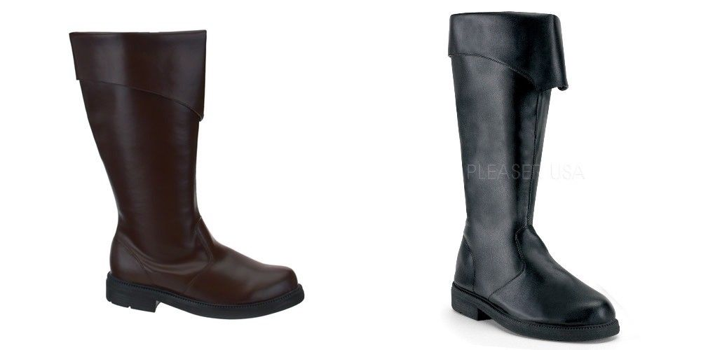 FUNTASMA Captain-105 Pirate Captain Buccaneer Medieval Larp Mens Costume Boots