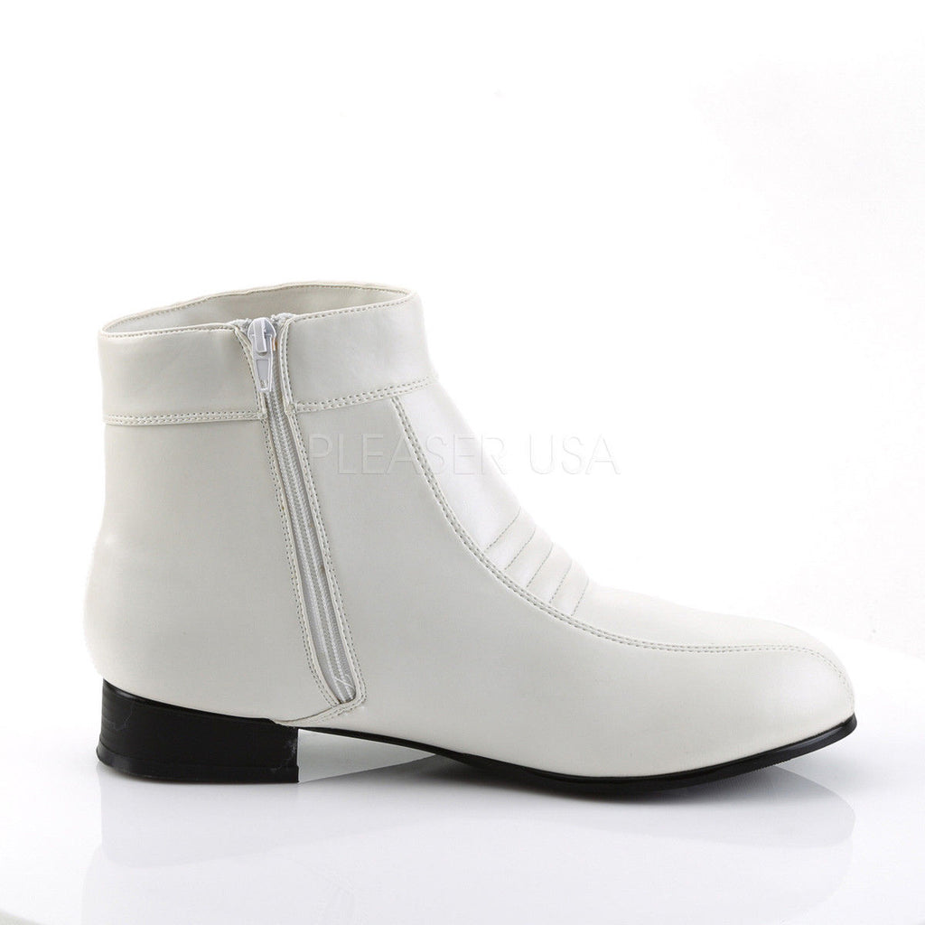 eaf431a9225d42 FUNTASMA Pimp-50 Men s White Comic Book Hero Trooper Retro 70s Costume Boots