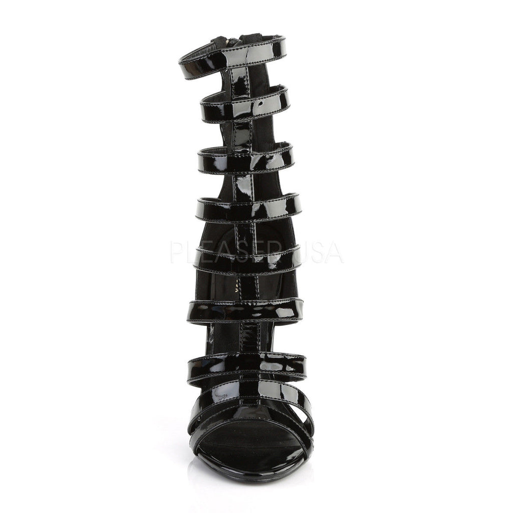 "PLEASER Sexy-52 Black Strappy Ankle Cage Sandals 5"" Stiletto Heels AU Sizes 4-13"