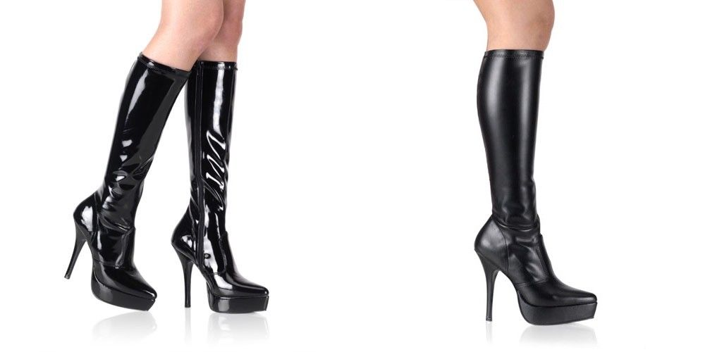 Discontinued DEVIOUS Indulge-2000 Drag Fetish Knee Boot Plus Size 5-15