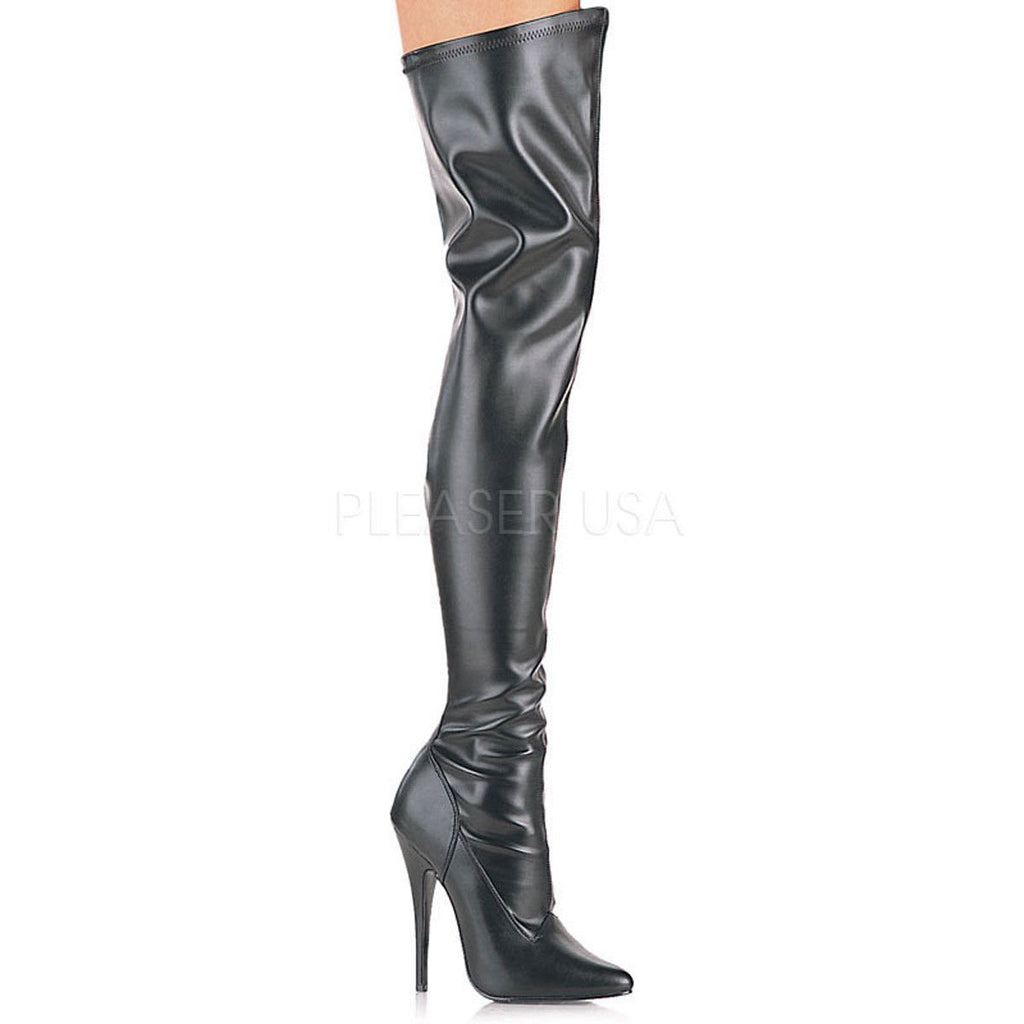 "DEVIOUS Domina-3000 Sexy Fetish Club Drag 6"" Heels Thigh Boots Women's Size 5-15 - A Shoe Addiction"