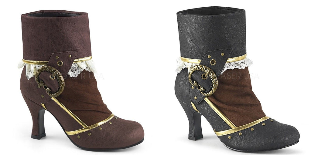FUNTASMA Matey-115 Costume Halloween Dress Up Steampunk Pirate Victorian Boots