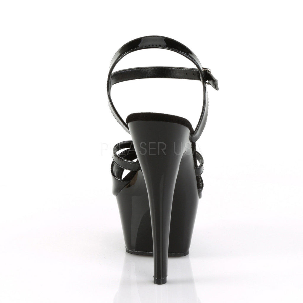 "PLEASER Kiss-229 Black Sexy Strap Exotic Pole Dancer Club Platforms 6"" Heels - A Shoe Addiction"