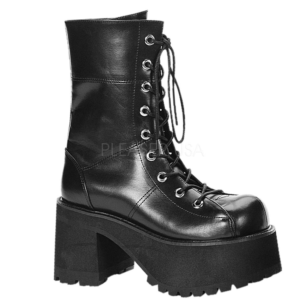 DEMONIA Ranger-301 Women's Vegan Velvet Goth Alternative Combat Platforms Boots - A Shoe Addiction