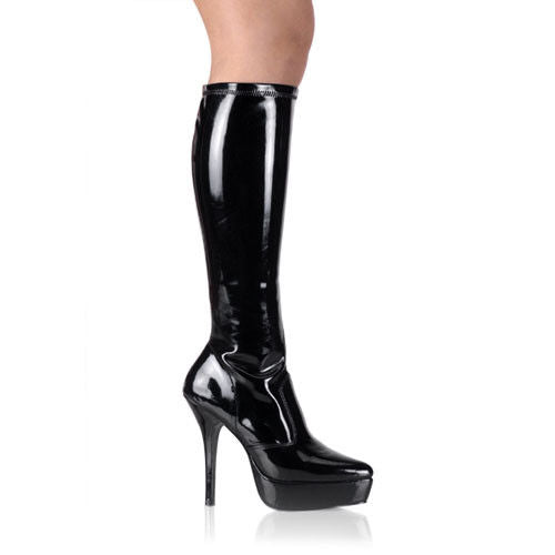 Discontinued DEVIOUS Indulge-2000 Drag Fetish Knee Boot Plus Size 5-15 - A Shoe Addiction