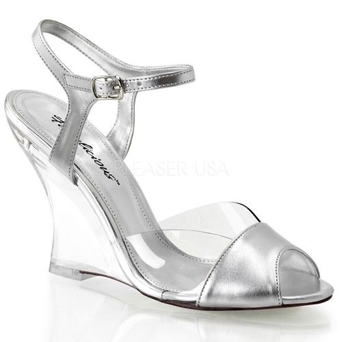 Discontinued FABULICIOUS Lovely-442 Metallic Dress Formal Wedges Sandals Heels - A Shoe Addiction