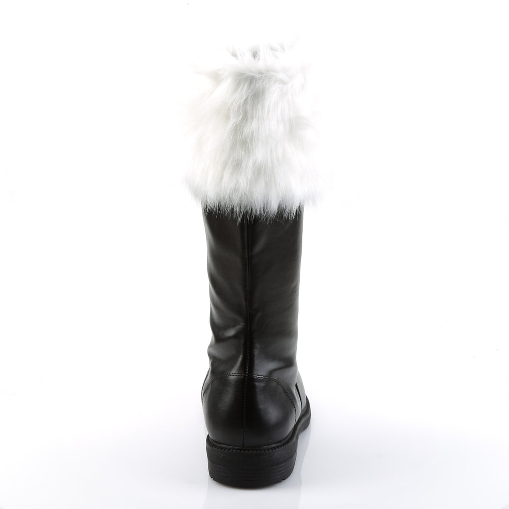 FUNTASMA Santa-100 Black Faux Fur Mens Men's Santa Claus Christmas Costume Shoes