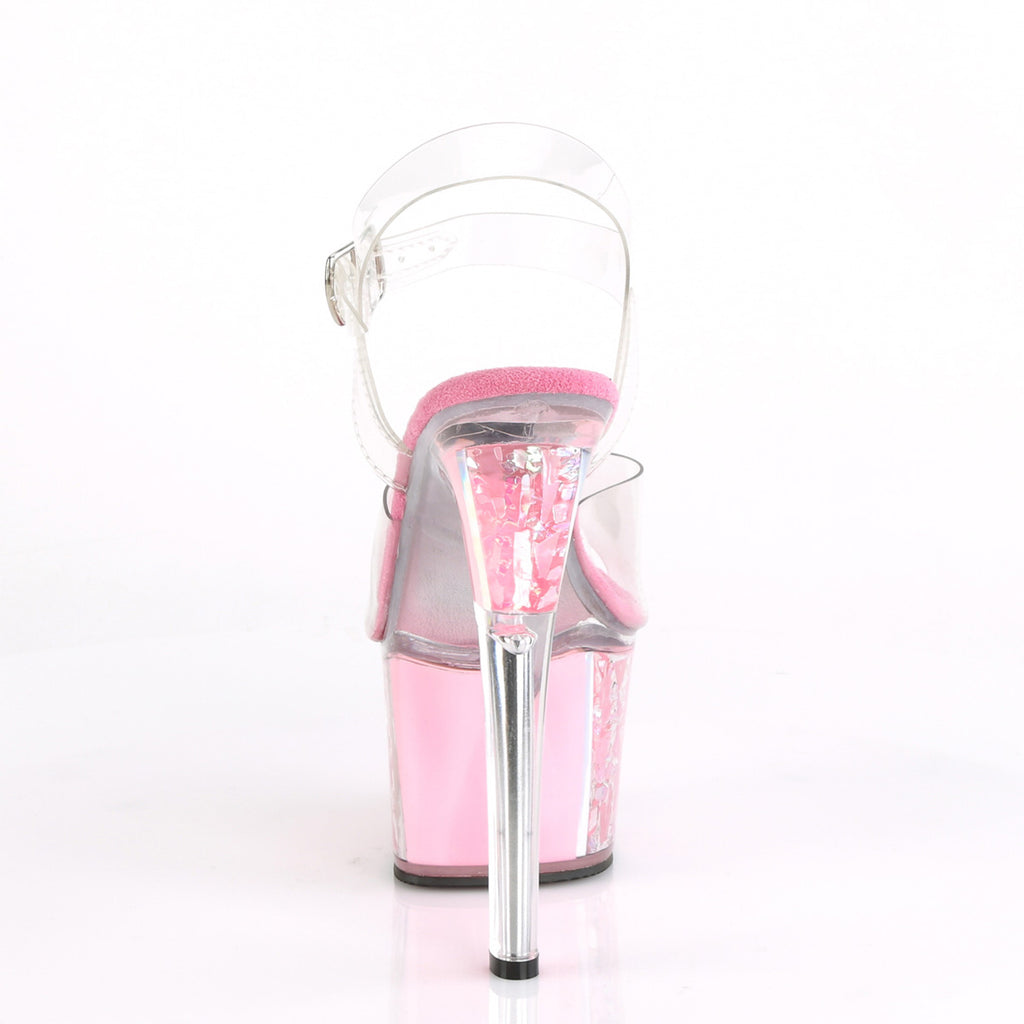 "PLEASER Sky-308OF Opal Flake Ornament Stripper Pole Dancer Club Platform 7"" Heel - A Shoe Addiction"