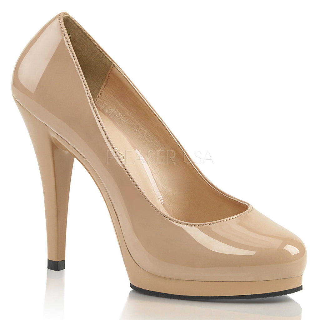 IN STOCK / SALE - FABULICIOUS Flair-480 Nude Work Dress Pumps Heels AU Size 9 - A Shoe Addiction