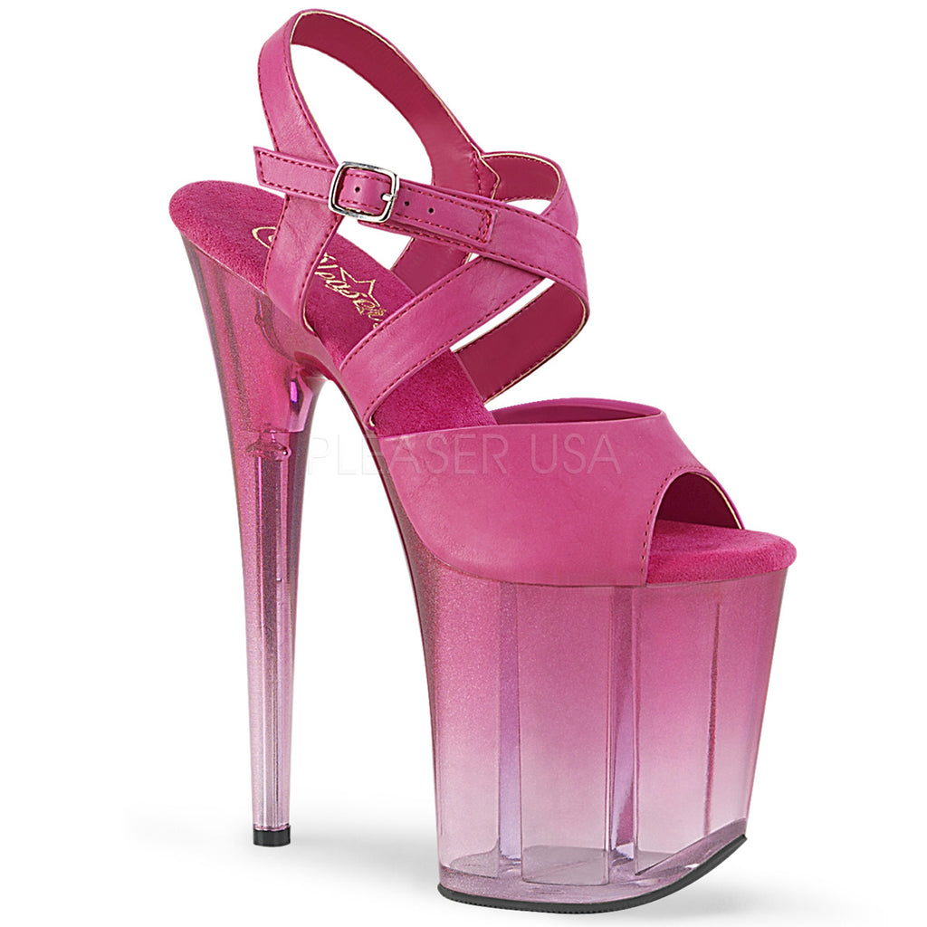 "PLEASER Flamingo-822T Ombre Stripper Pole Dancer Club 4"" Platforms 8"" Heels - A Shoe Addiction"