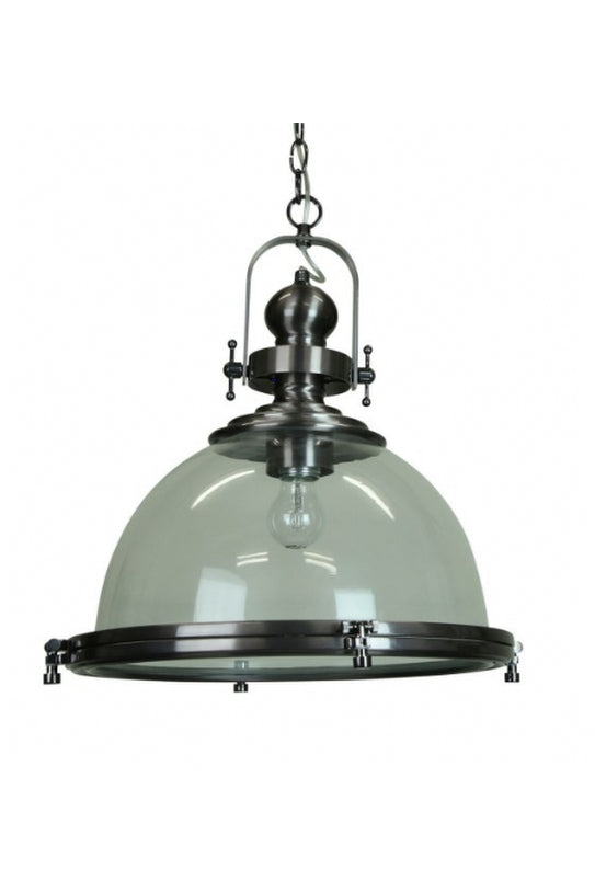 Gaia Industrial Pendant Light | Clear Antique Glass