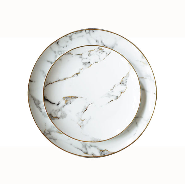 Marmo Ceramic Plate Set - Cloudberrytale