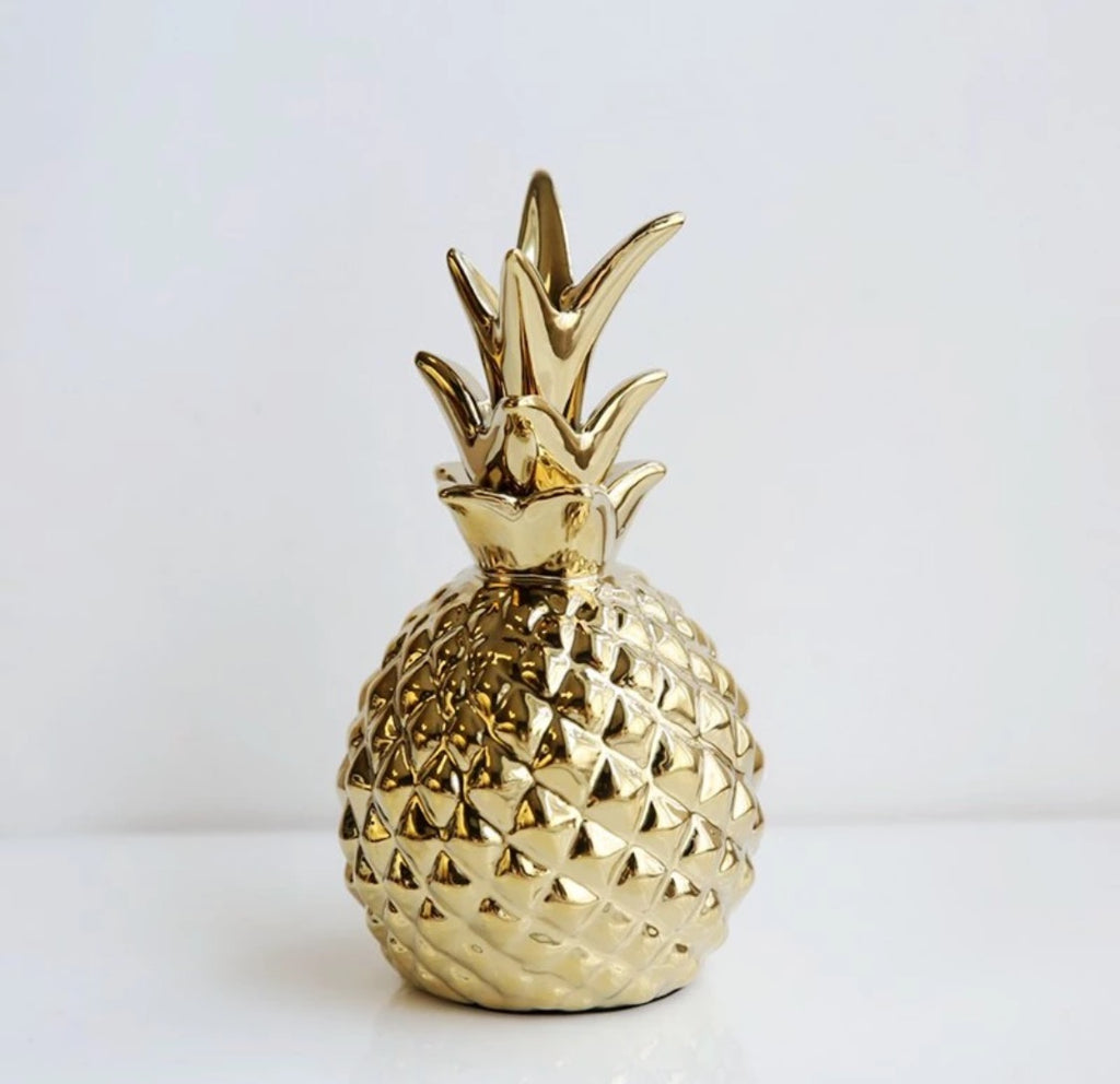 Gold Pineapple Ornament - Cloudberrytale