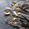 Loddi Original Series - 24 Piece Flatware Set (Black and Gold ONLY) - Cloudberrytale