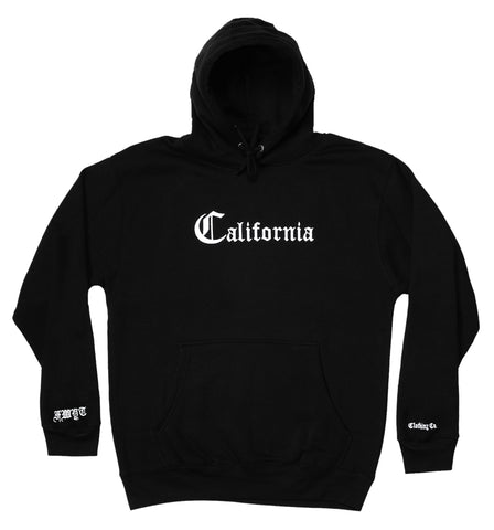 California Hoodie - Black - Fuck What You Think Clothing Co.