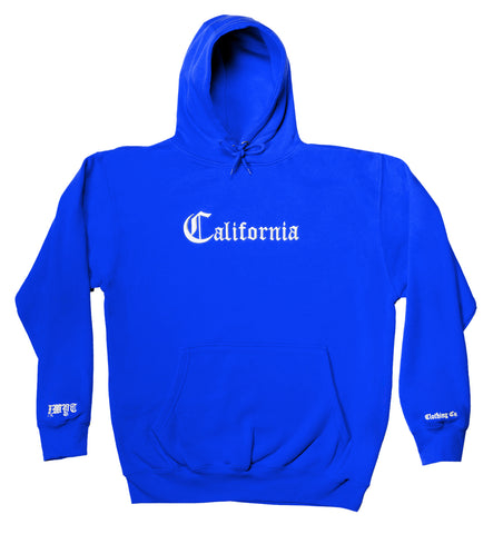 California Hoodie - Blue - Fuck What You Think Clothing Co.