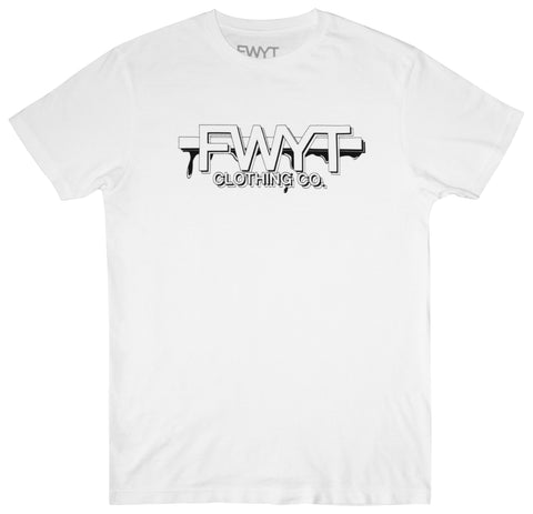 Branded Logo Tee Shirt - White - Fuck What You Think Clothing Co.