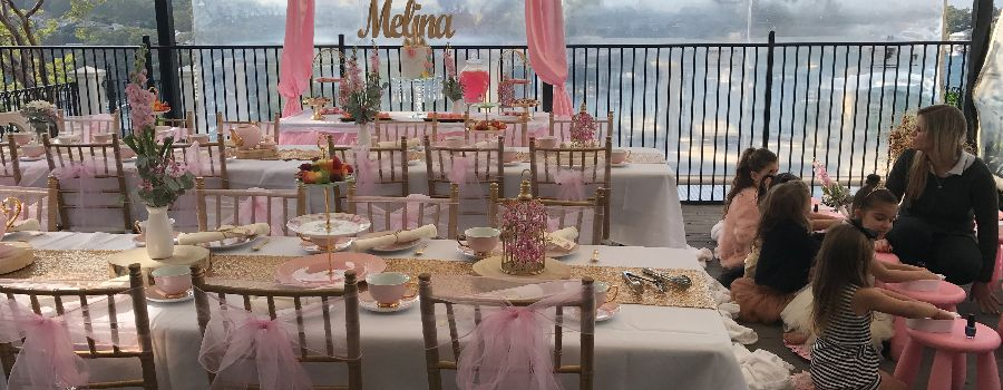 Kids high tea and pamper party at a Sydney venue