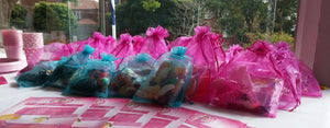 pink and blue lolly bag party favors