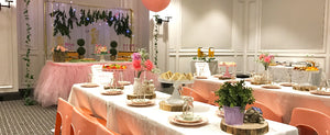 Pink Whimsical Garden Fairy Party Set Up