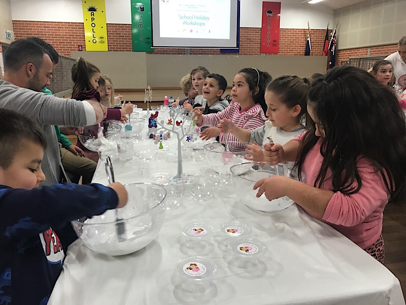Slime making workshop: our slimers learning how to make slime independently