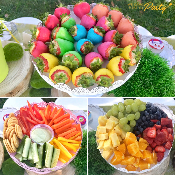 Colourful Trolls Movie Inspired Healthy Kids Party Food