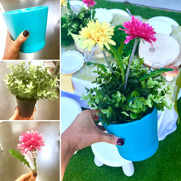 DIY Steps to make a Colourful Troll themed pot plant