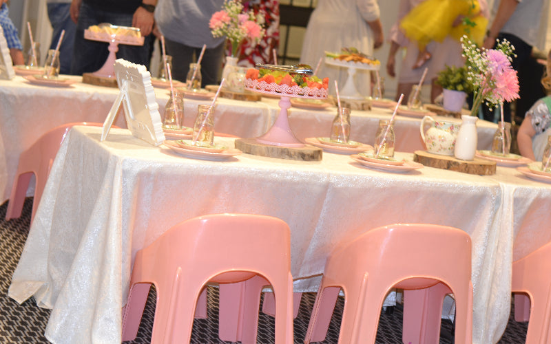 Fairy Tea Party with pink chairs
