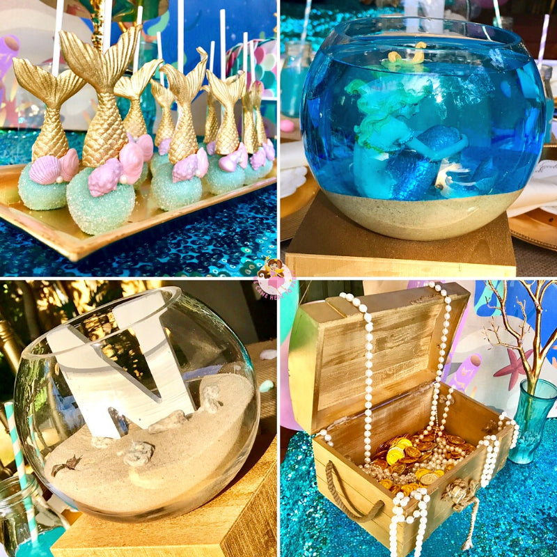 Mermaid Party Ideas - Cake Pop and Party Decorations