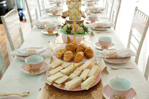 Kids High Tea Party Food with High Tea Crockery