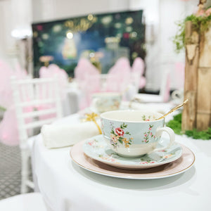 kids fairy tea party set up