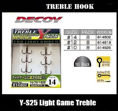 Decoy Y-S25 Light Game Treble Hook
