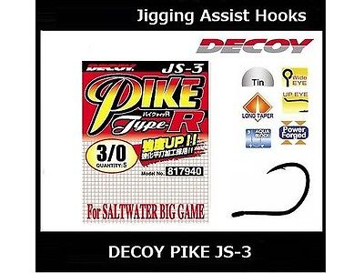 DECOY Jigging Assist Hook Type-R Pike JS-3