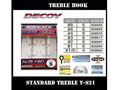 Decoy Standard Treble Hook Y-S21