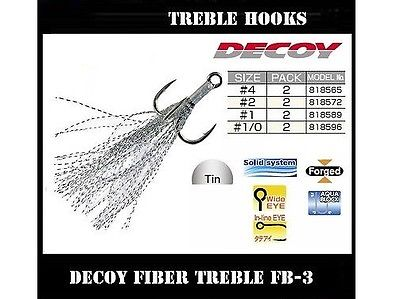 Decoy Fiber Treble Hooks FB-3
