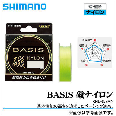 Shimano Basis ISO Fishing Main Line Mono (Nylon) 150m